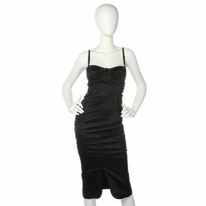 D&G Black Ruched Bustier Dress, Size 38/2